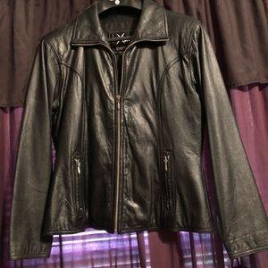 Ladies Wilsons black leather jacket.